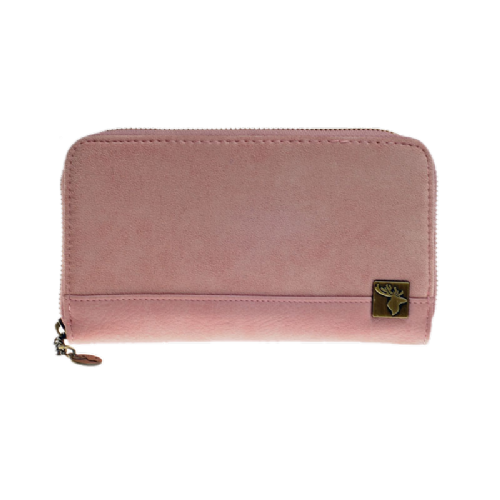 House of Tweed Purse in Pink Suede